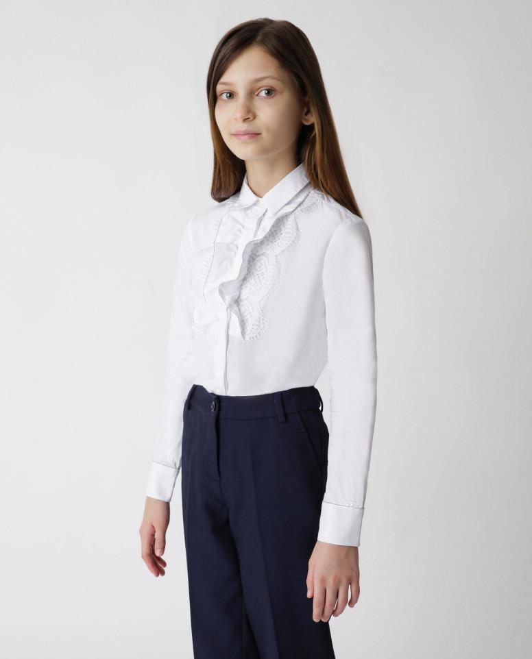 Белая блузка Gulliver цв. белый 128