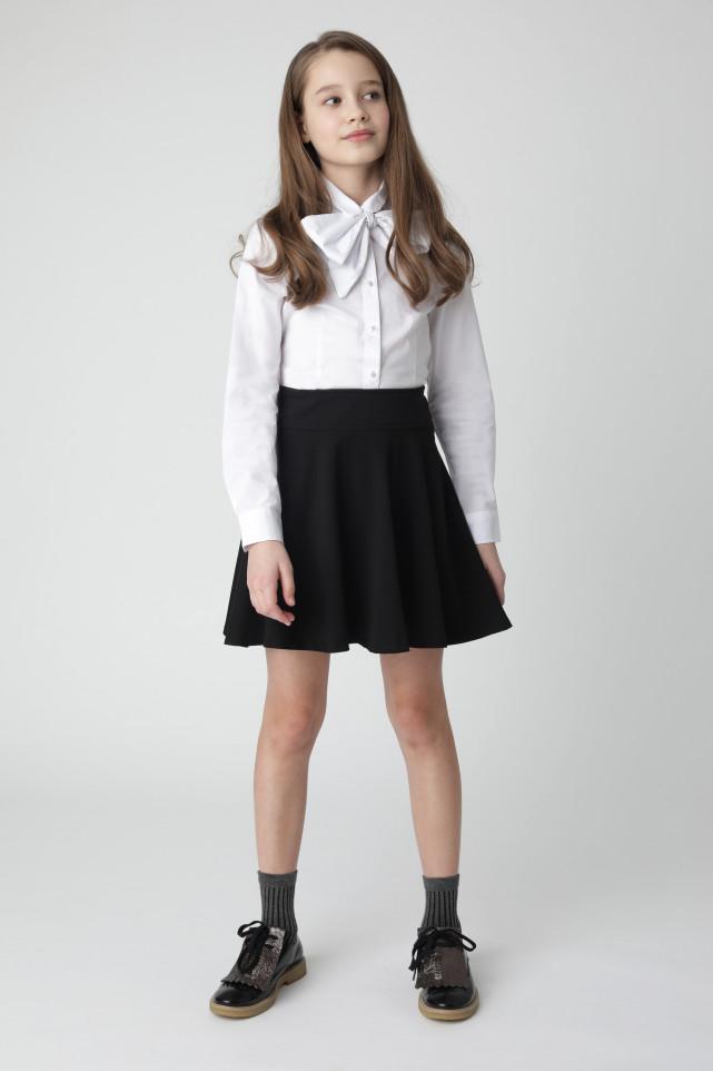 Белая блузка с бантом Gulliver цв. белый