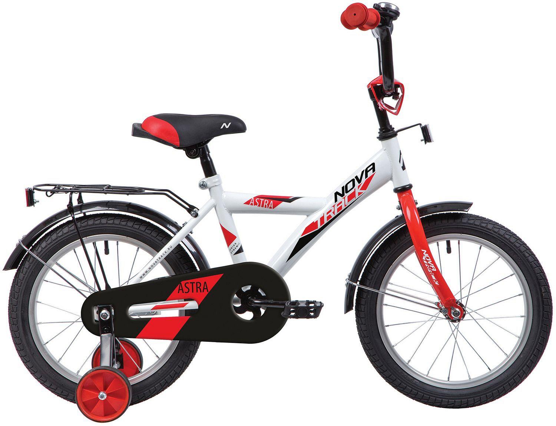 Купить 143ASTRA.WT20, Велосипед NOVATRACK 14 ASTRA белый, тормоз нож, крылья, багажник, полная защ.цепи,
