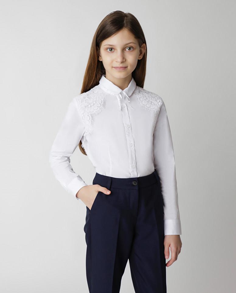 Белая блузка Gulliver цв. белый 134