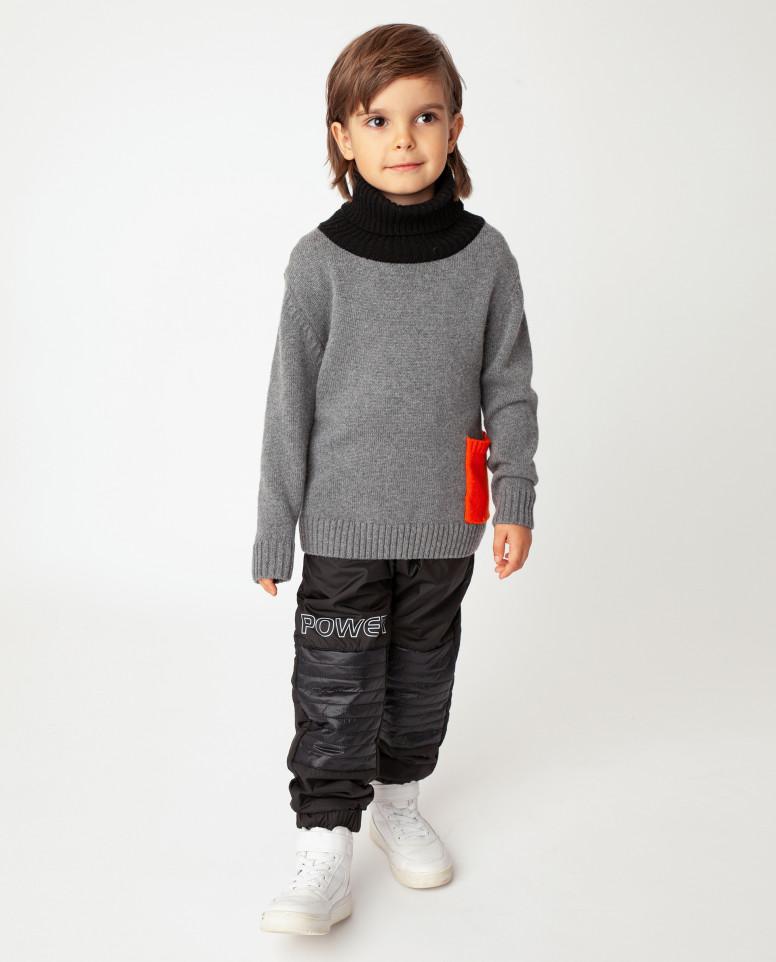 Серый свитер теплый Gulliver цв. серый 104