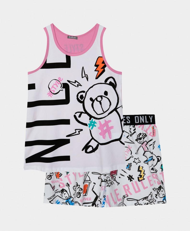 Купить 12100GC9702, Пижама с шортами Gulliver цв. мультицвет 146-152,