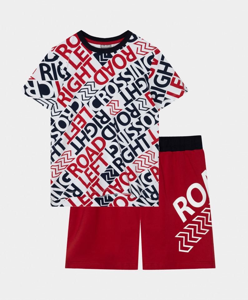 Купить 12100BC9701, Пижама с шортами с принтом Gulliver цв. мультицвет 146-152,