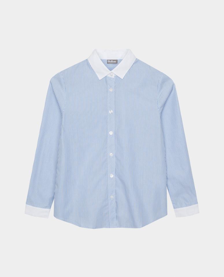 Блузка в полоску Gulliver цв. белый 140