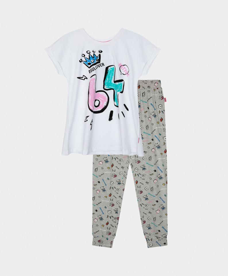 12100GC9701, Пижама с принтом Gulliver цв. мультицвет 146-152,  - купить со скидкой
