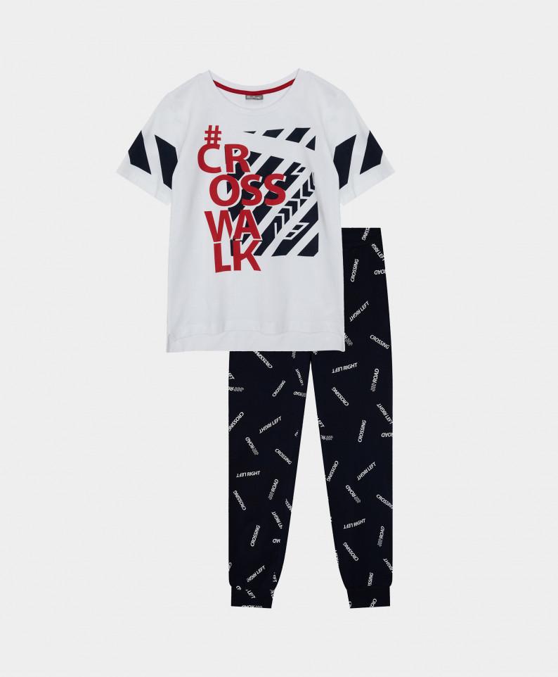Купить 12100BC9702, Пижама с брюками Gulliver цв. мультицвет 146-152,