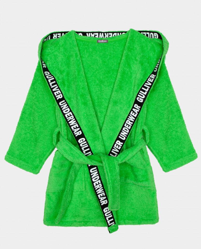 Зеленый халат Gulliver цв. зеленый 98 104