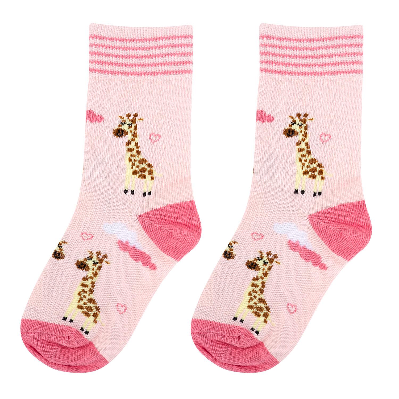 Купить KW009-000878, Носки детские Kawaii Factory Жирафики, размер16-18 (4-5 лет),