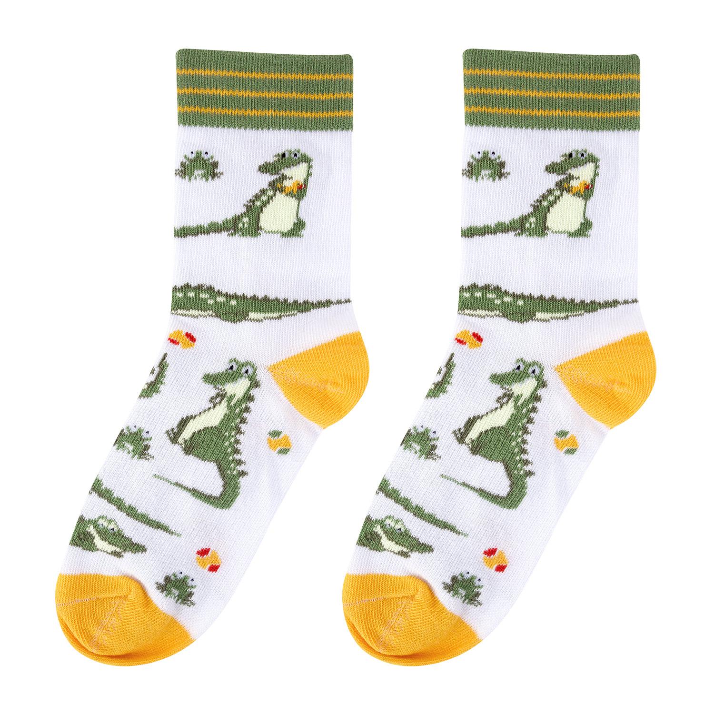 Купить KW009-000887, Носки детские Kawaii Factory Крокодилы, размер18-20 (5-7 лет),