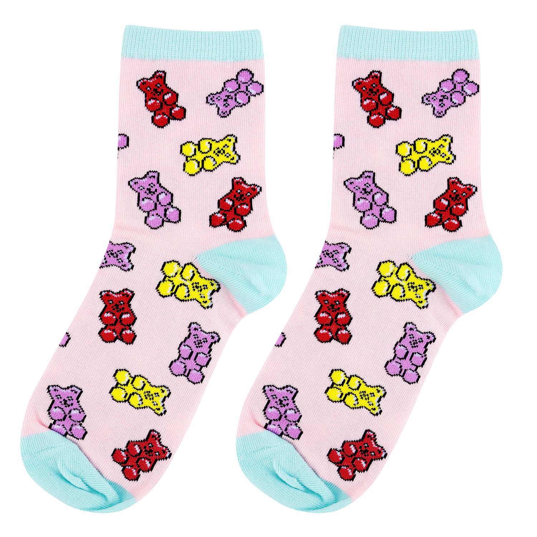 Носки женские Kawaii factory Мишки на розовом розовые 35-39