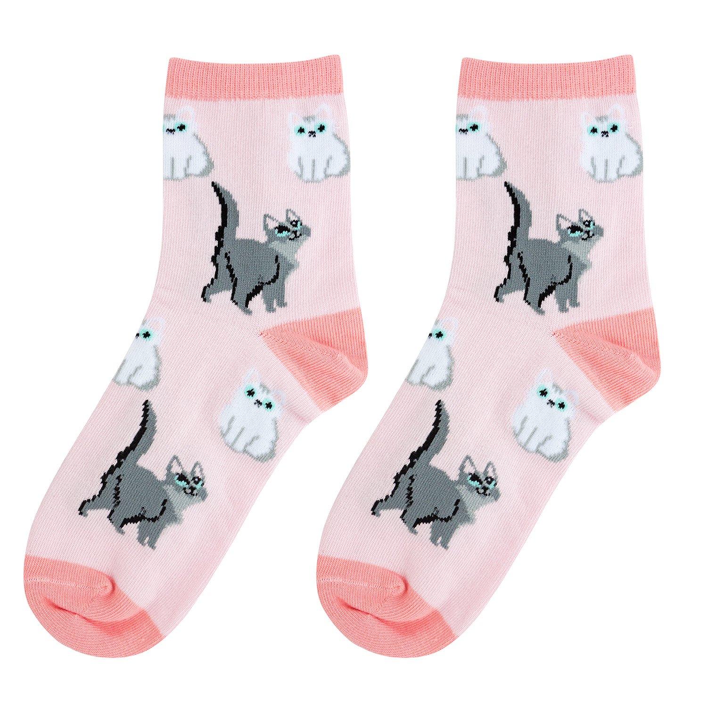 Носки женские Kawaii factory Кошки розовые 35-39