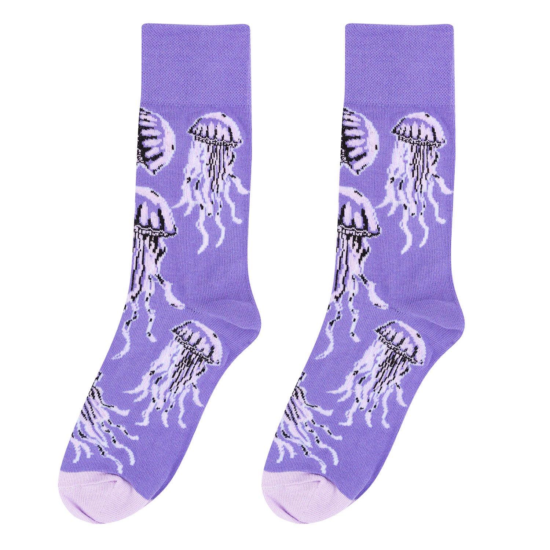 Носки женские Kawaii factory Медузы фиолетовые 35-39
