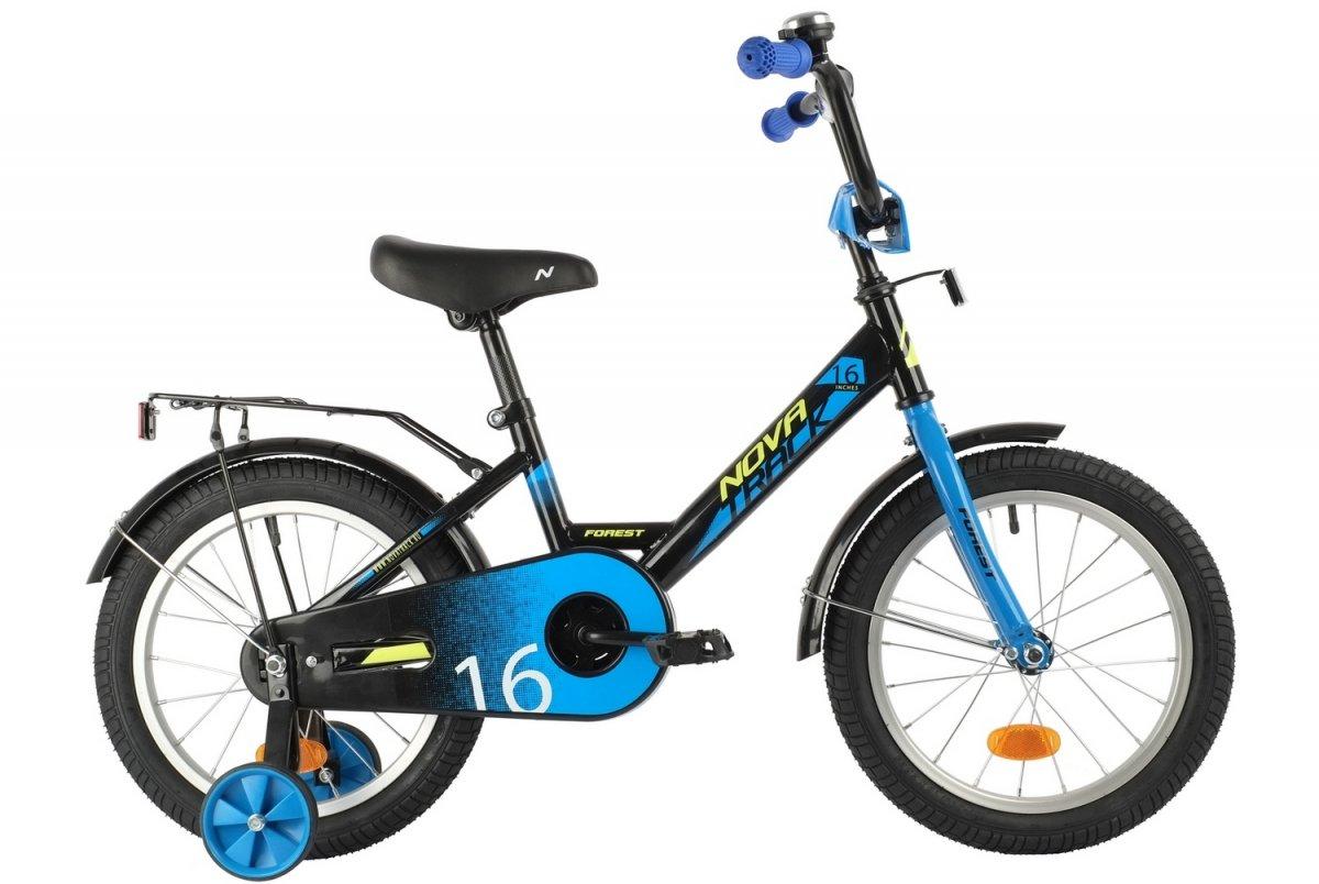 Купить 161FOREST.BK21, Велосипед NOVATRACK 16 FOREST черный,