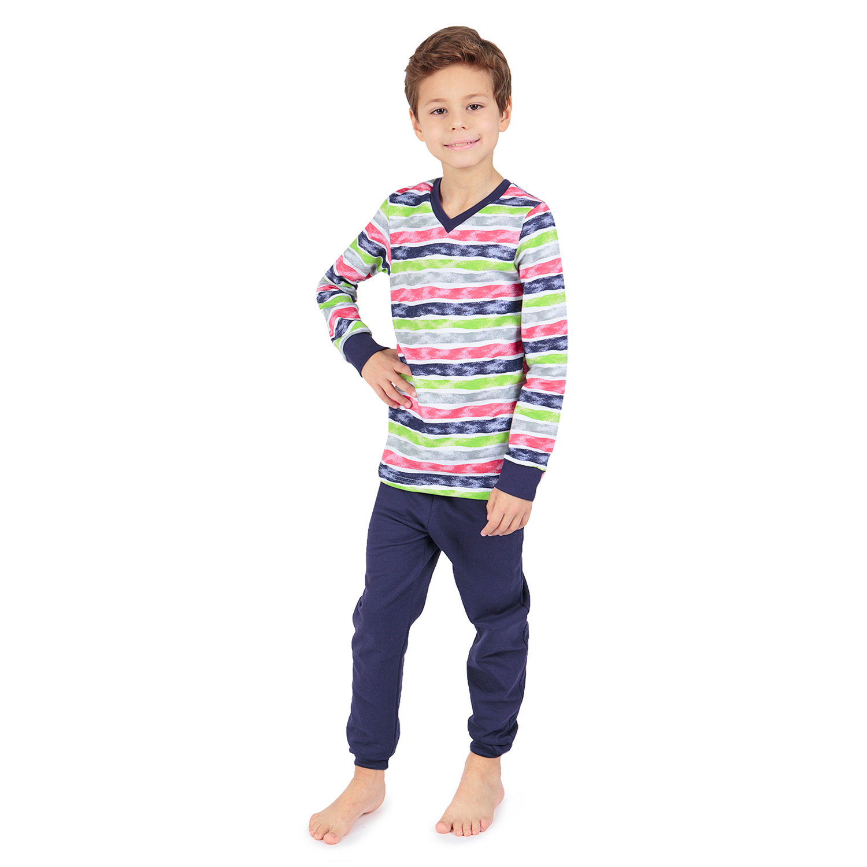Пижама джемпер/брюки Зайка Моя синий/мультиколор р.134 GL001032488