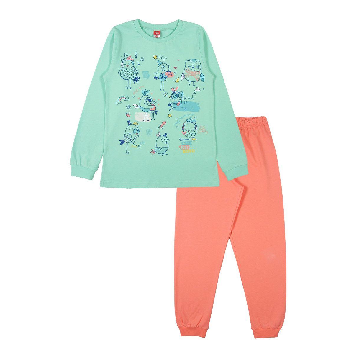 Пижама джемпер/брюки Cherubino зеленый р.146 GL001062053