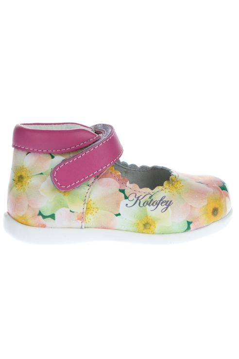 Купить Туфли с цветочным принтом Котофей 132101-21 цв. розовый р. 20,