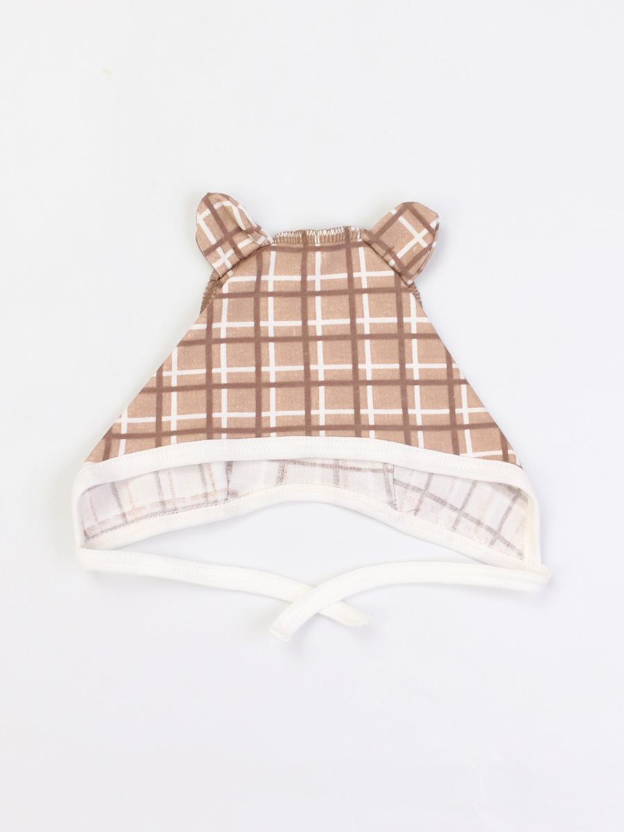 Чепчик Little Friend Котмаркот 1121037 для новорожденных молочный р.48