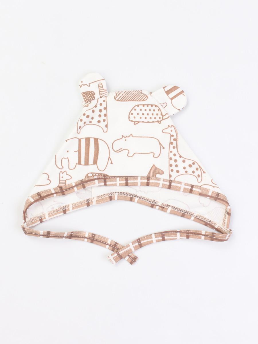 Чепчик Little Friend Котмаркот 1121039 для новорожденных молочный р.48