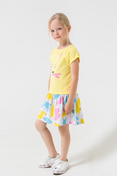 Купить Платье с оригинальным узором Crockid К 5380 цв. желтый р. 92,