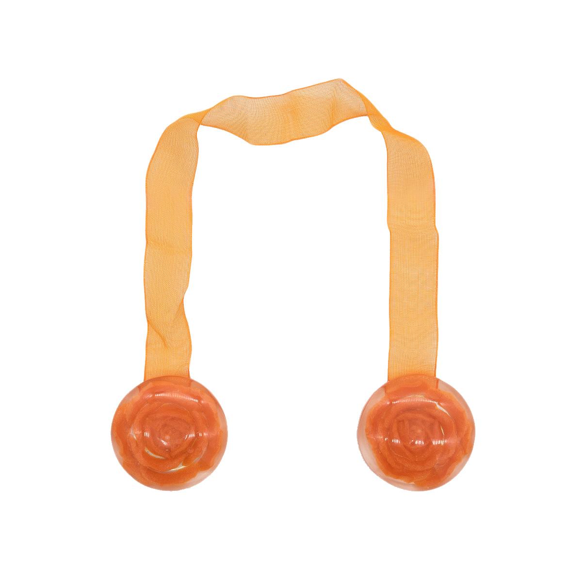 Клипса магнит W04 для штор 3 оранжевый