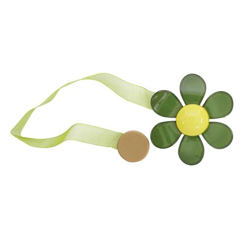 Клипса магнит для штор 7,5см зеленый