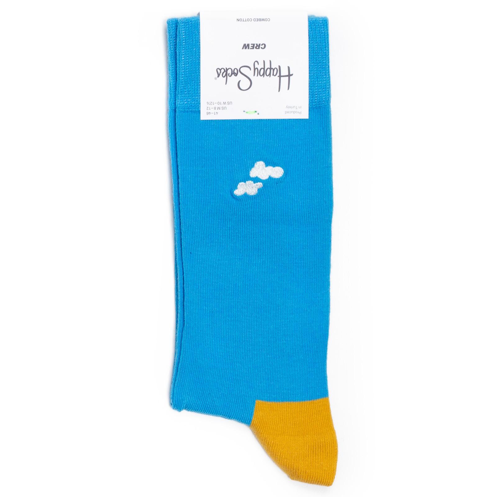 Носки унисекс Happy Socks Cloudy разноцветные 36-40