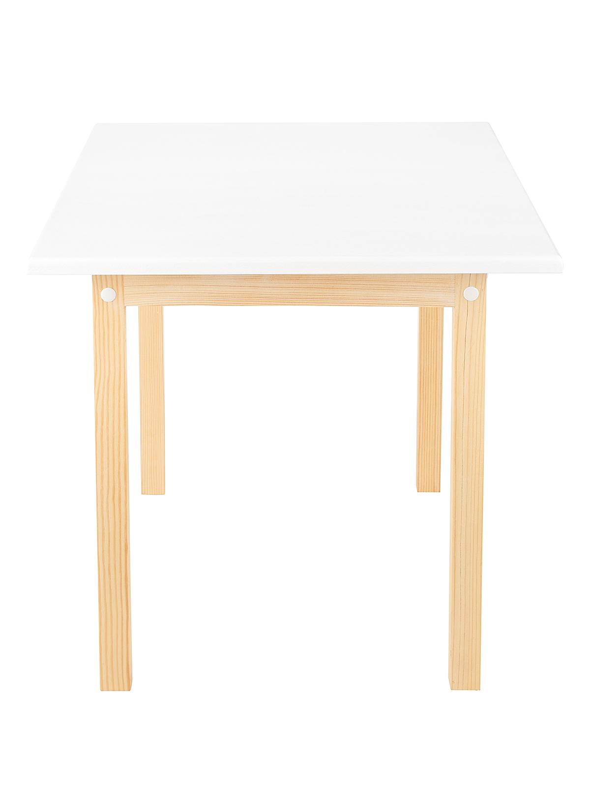 Стол детский KETT-UP ECO ODUVANCHIK (ОДУВАНЧИК) 50*60см, натур/белый, массив дерева