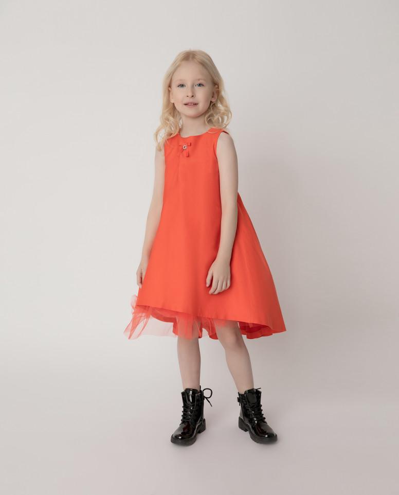 Купить 121GPGMC2505, Платье нарядное оранжевое Gulliver цв. оранжевый 110,