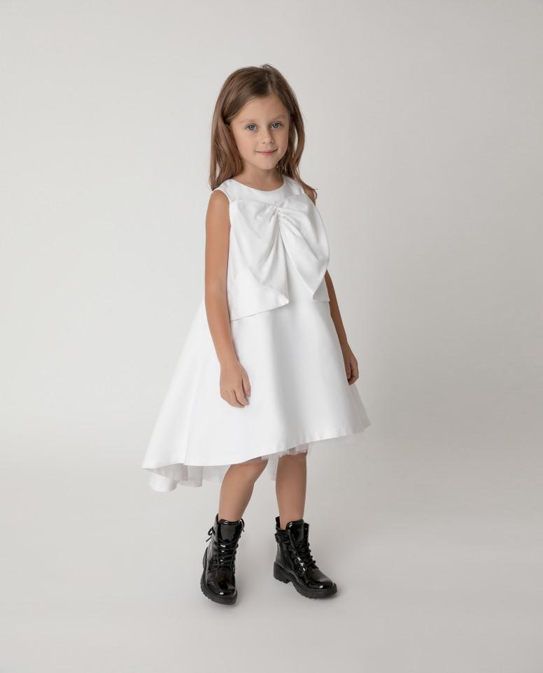 Купить 121GPGMC2502, Платье нарядное с бантом Gulliver цв. белый 122,