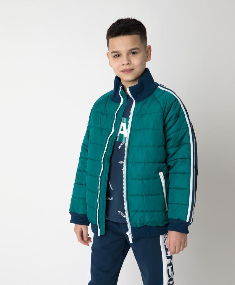 Купить 12112BJC4102, Куртка демисезонная сине-зеленая Gulliver цв. зеленый 140,