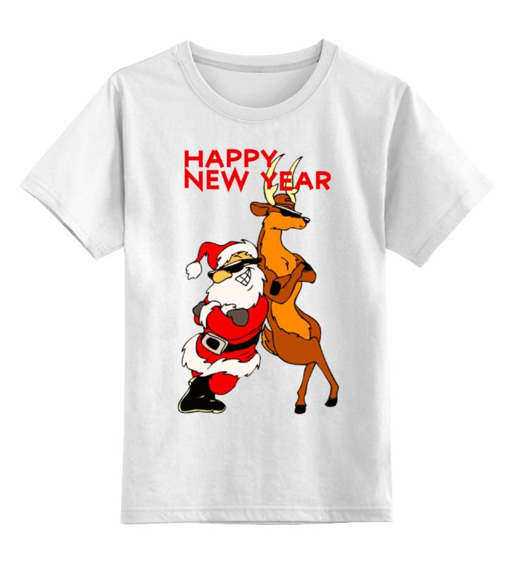 Купить 0000000664785, Детская футболка классическая Printio Happy new year, р. 164,