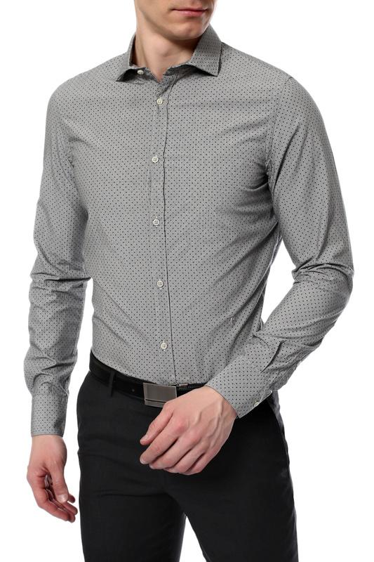 Рубашка мужская Tru Trussardi 624248 серая 41