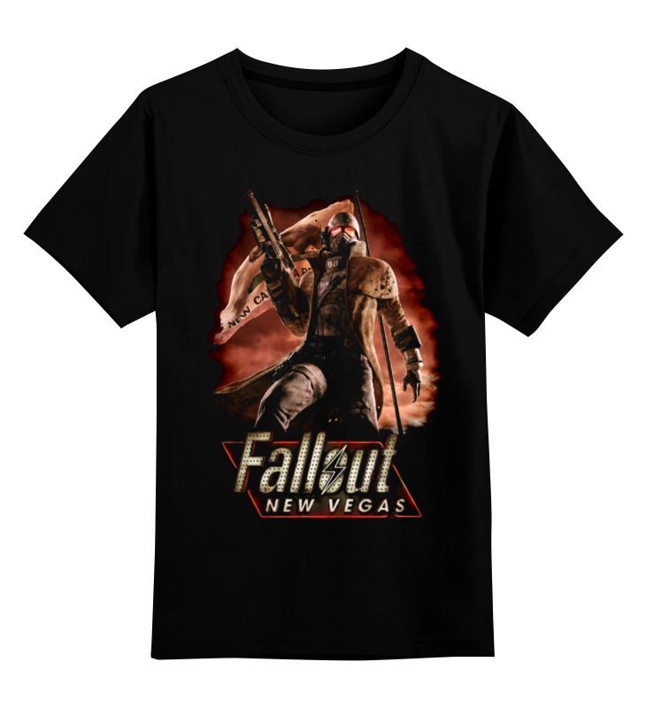 Купить 0000000665838, Детская футболка классическая Printio Fallout: new vegas, р. 164,