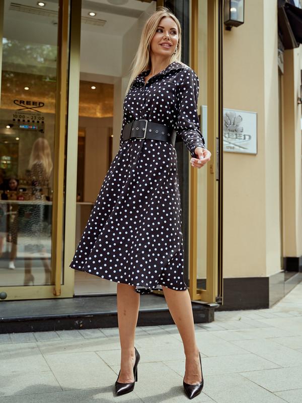 Платье женское AVEMOD AS 980 черное 50 RU