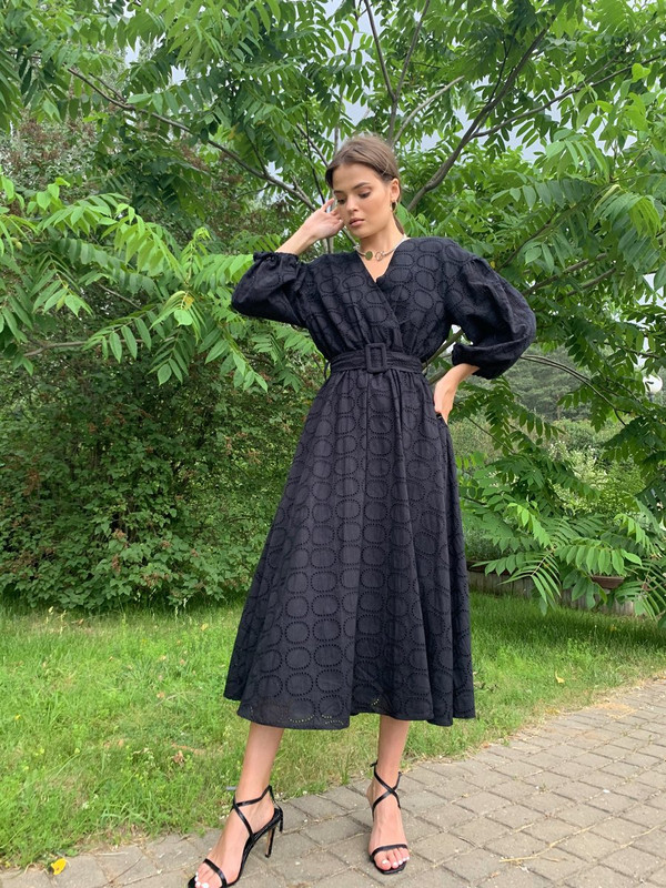 Платье женское AVEMOD AV 1124 черное 52 RU