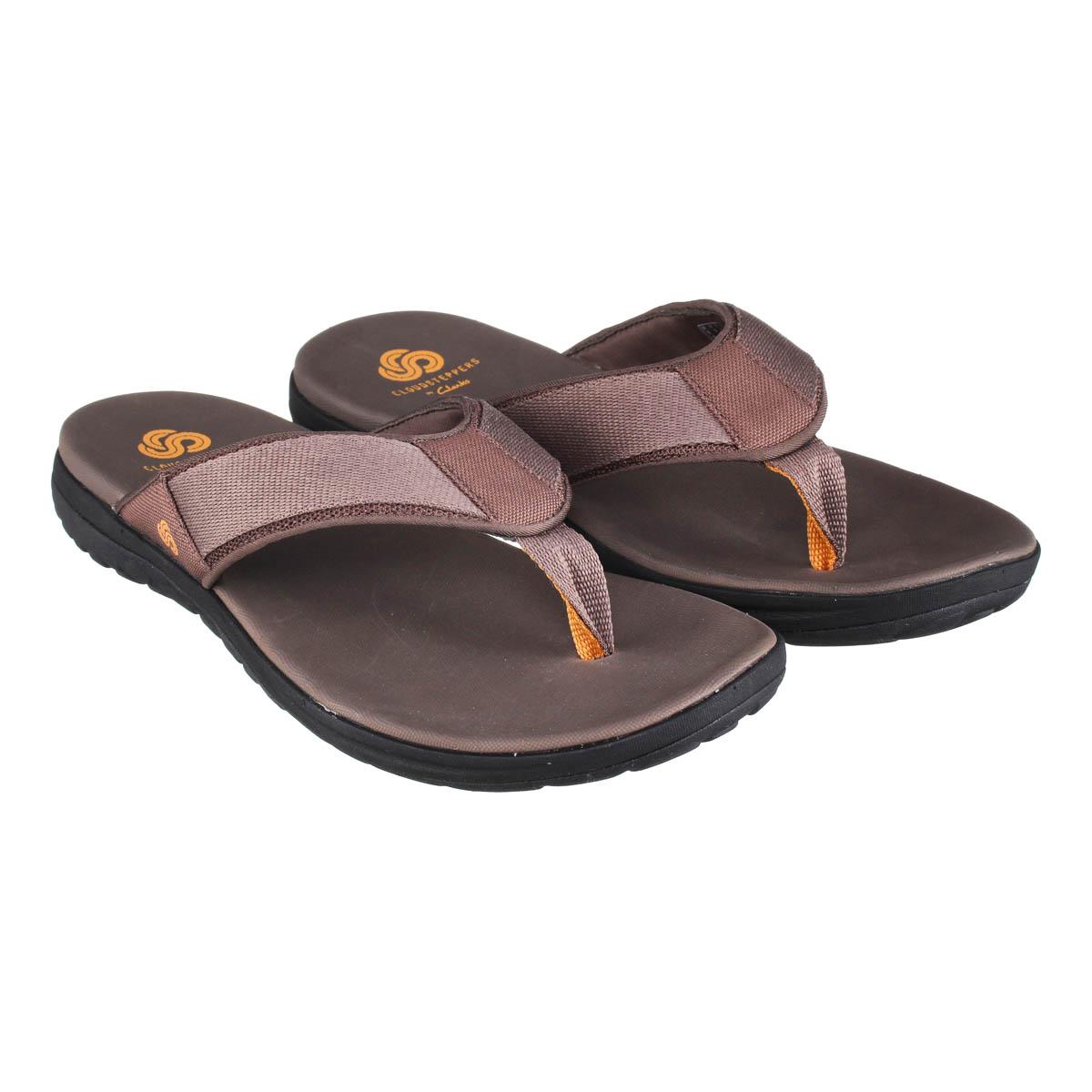 Вьетнамки мужские Clarks Step Beat Dune коричневые 41.5 EU