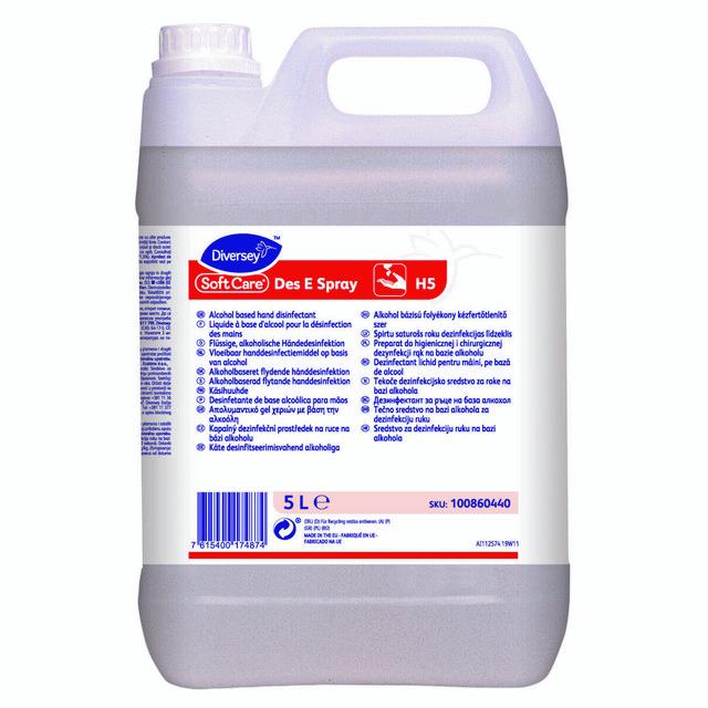 Купить Антисептик для рук Soft Care MED спиртовой 5 литров, Diversey