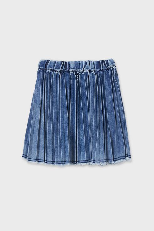 Купить Джинсовая плиссированная юбка Mayoral 6905/21 цв. синий р. 152,
