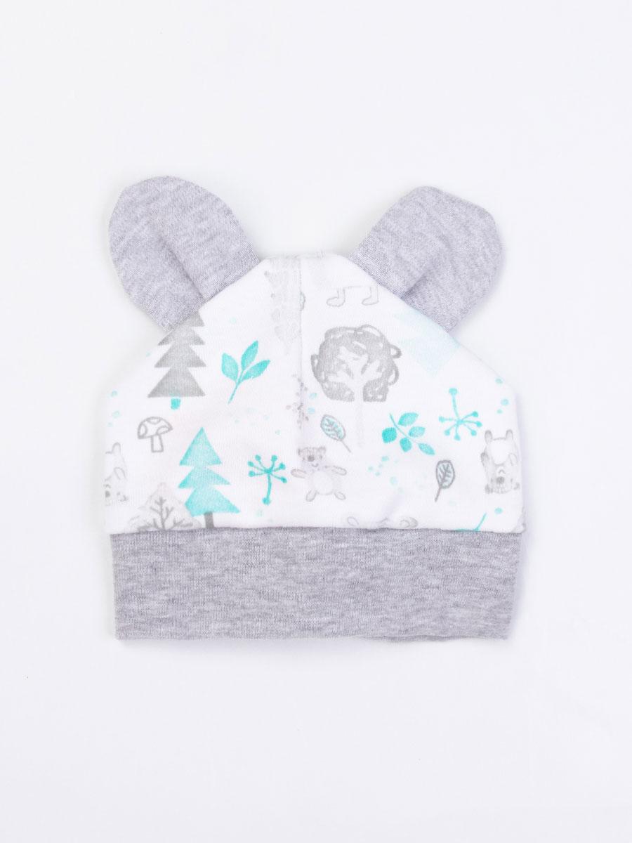 Шапка Лесные Мишки Котмаркот 1020951 для новорожденных белый р.40