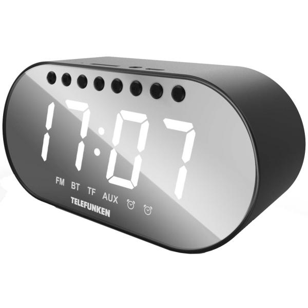 Радио-часы Telefunken TF-1707B Black