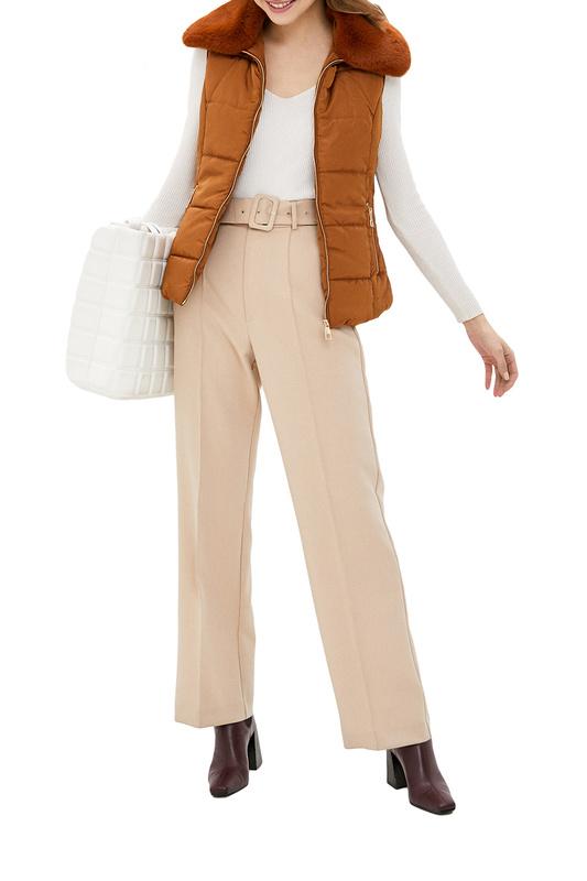 Утепленный жилет женский EL CABALLO 2201007-570 коричневый 60