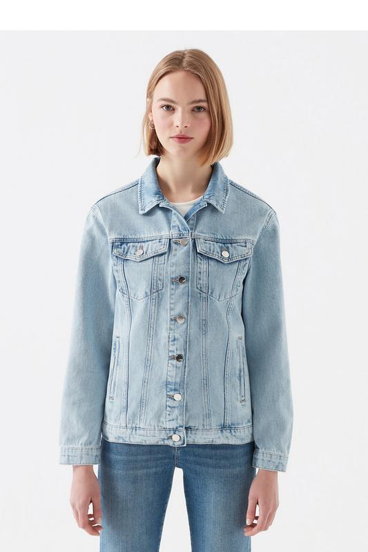 Джинсовая куртка женская Mavi 110154-29602 синяя XS