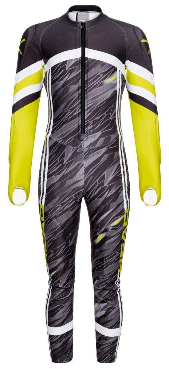Купить Комбинезон Горнолыжный Детский Head Race Suit Jr Black/Yellow Рост:128,