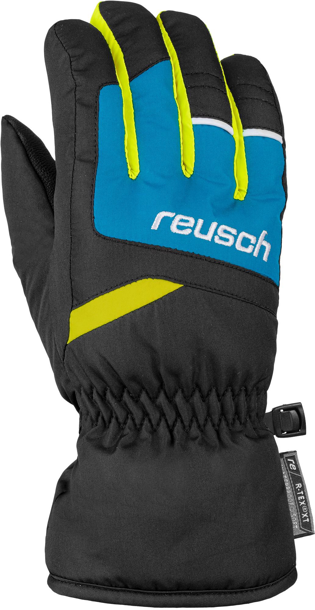 Перчатки Горнолыжные Reusch Bennet R-Tex Xt Black/Brilliant Blue/Safety Yellow Inch 5