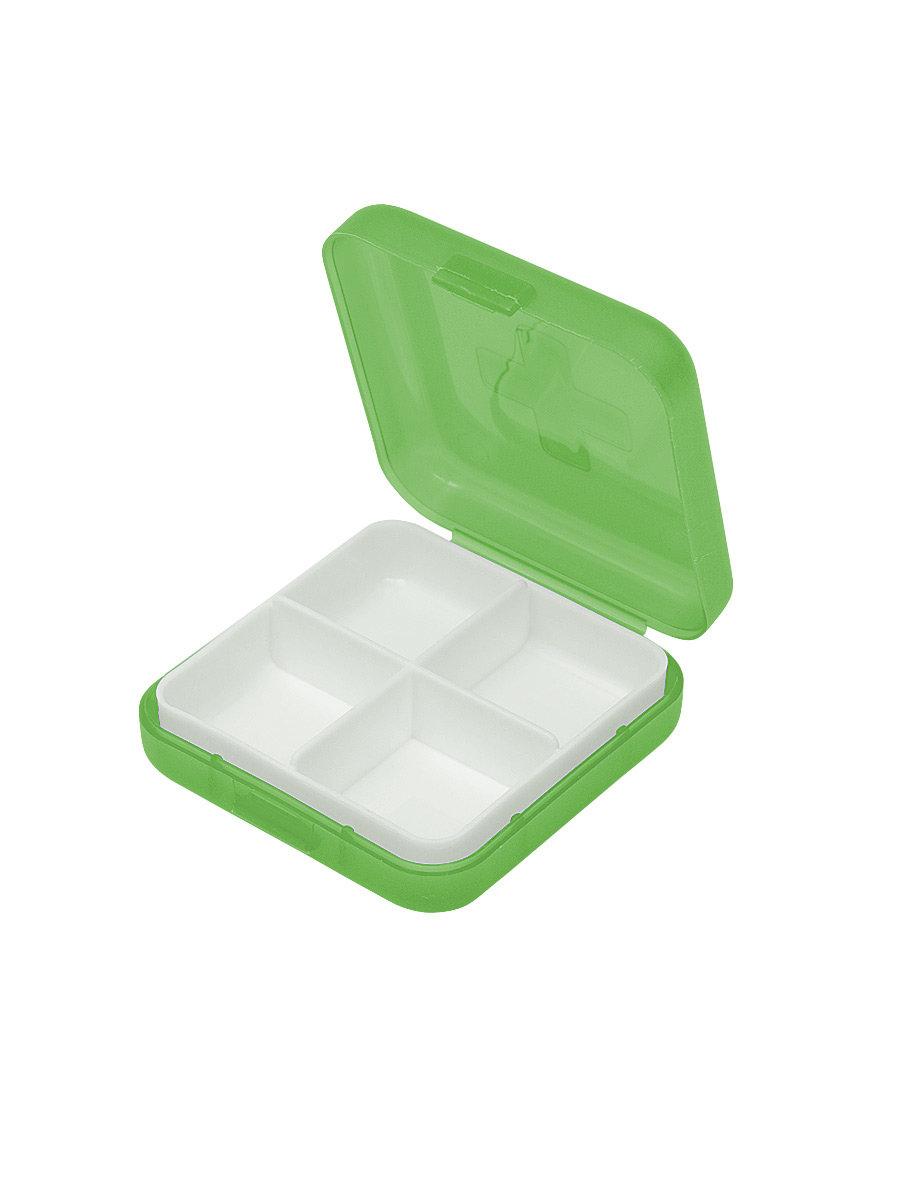 Таблетница Litzen Tablet 4 секции зеленый