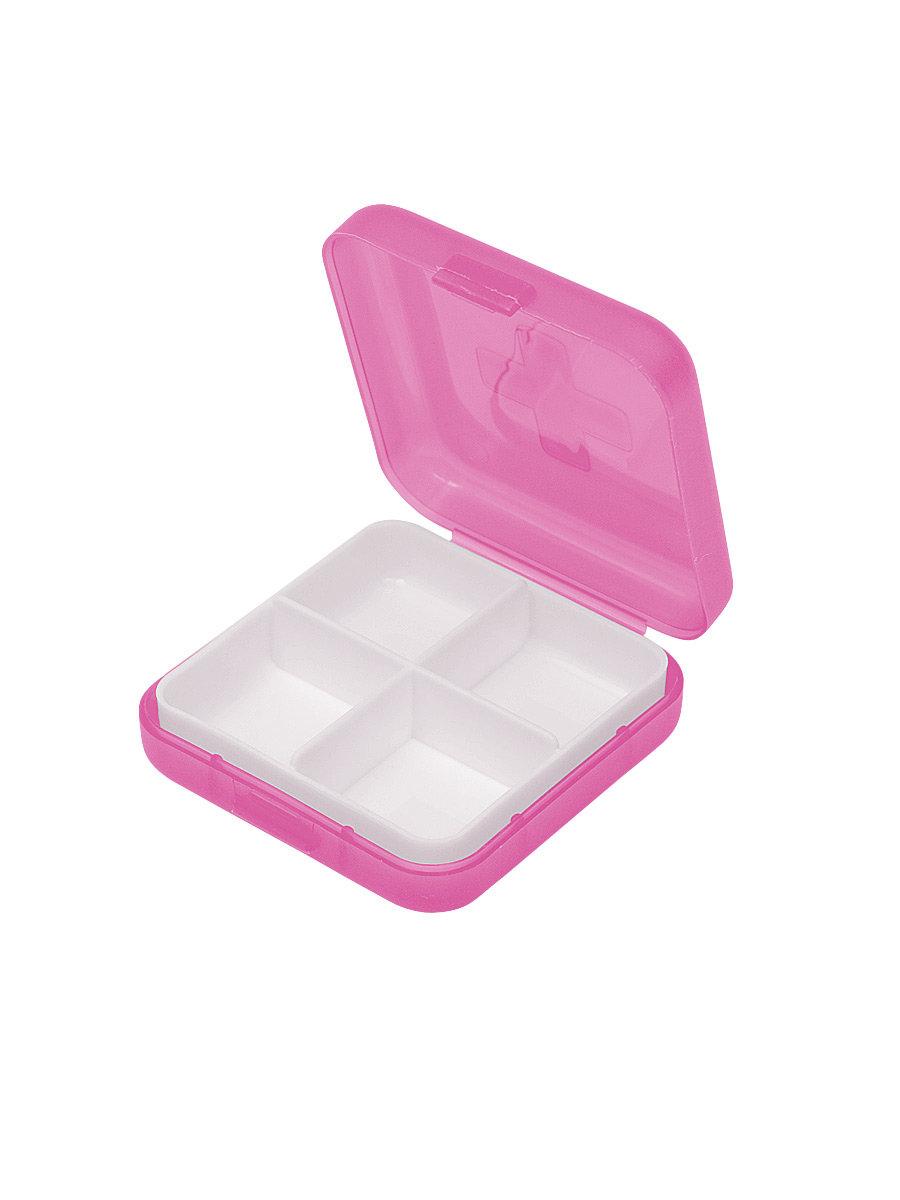 Таблетница Litzen Tablet 4 секции розовый