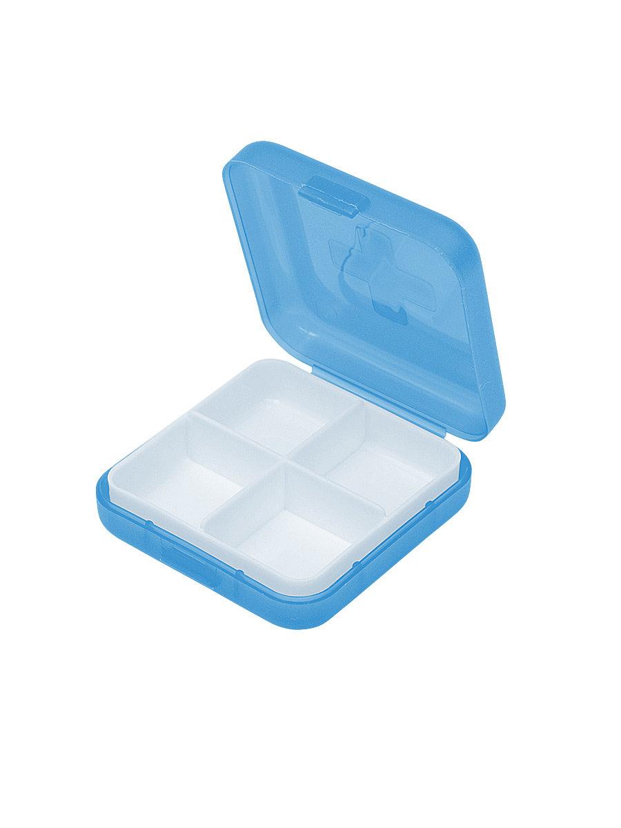 Таблетница Litzen Tablet 4 секции голубой