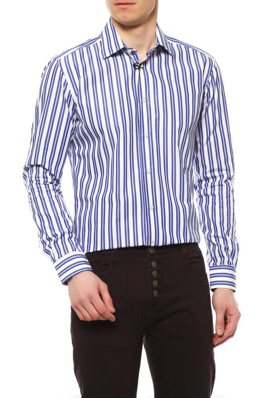 Рубашка мужская BRIAN DALES BS57 MESERO.001 черная 41 IT