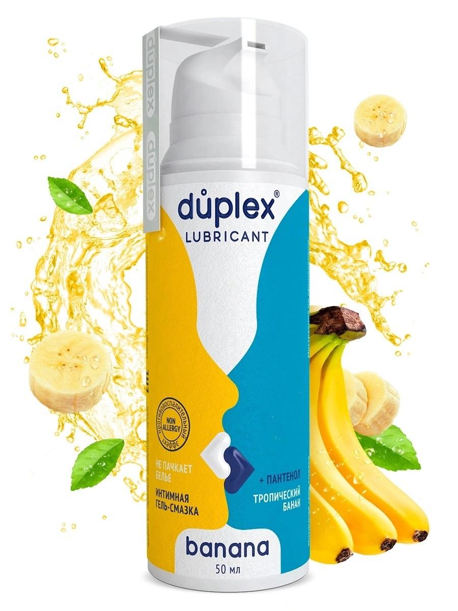 Купить Лубрикант смазка интимная + пантенол Duplex Аромат банана 50 мл
