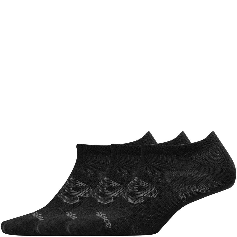 Носки унисекс New Balance UNISEX FLAT KNIT NO SHOW SOCK 3 PAIR черные L